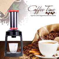 Red Coffee Maker Machine Manual Grinding Portable Hand Pressure Make Cafe Multifunctional Coffee Machine For Bar Home Office
