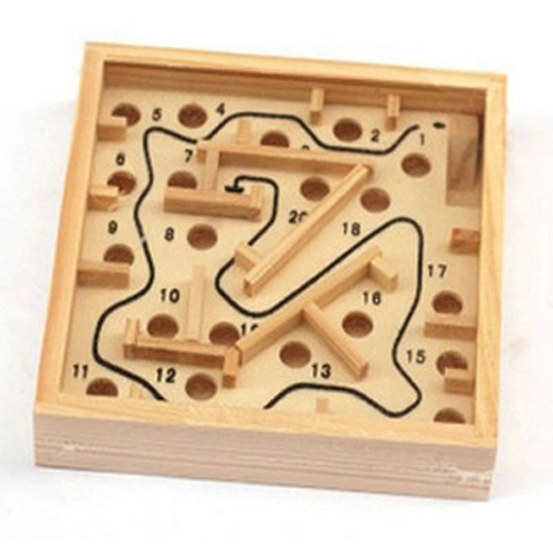 11 5 11 5 Cm Educational Wooden Toys Maze Game Handheld