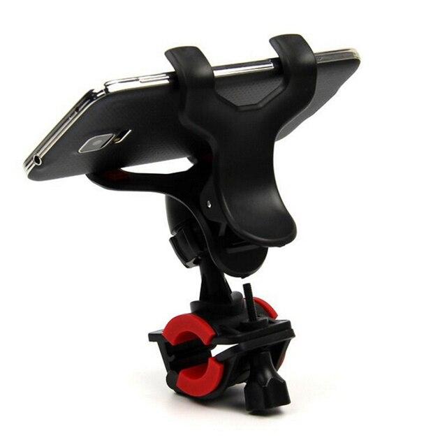 Gmarty 1 unids Manillares clip montaje soporte motocicleta titular del teléfono móvil soporte para teléfono celular GPS