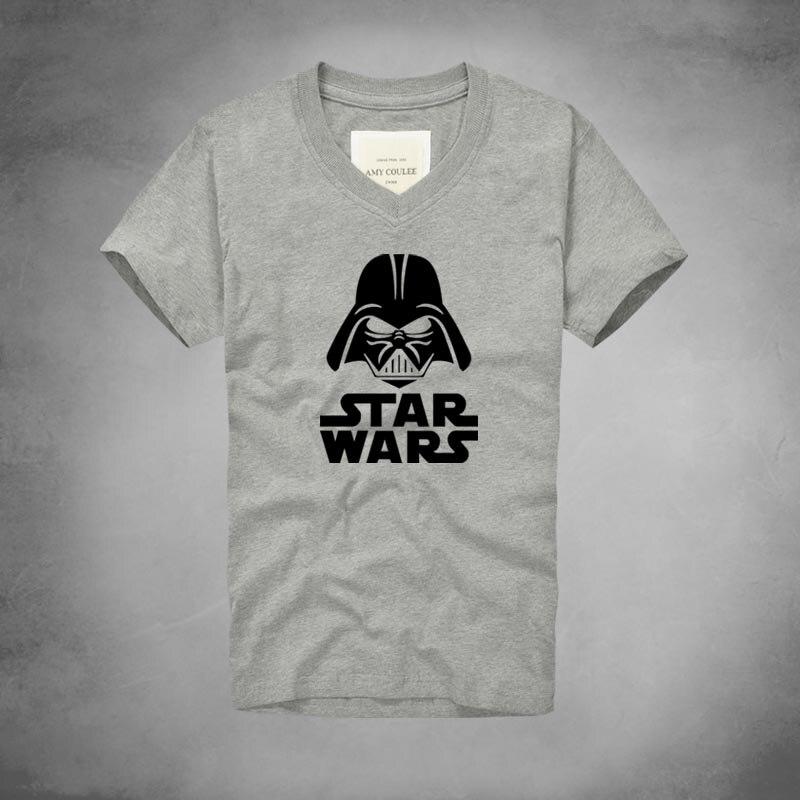 1 Star Wars Printed Yoda T Shirts Hipster Darth Vader T-Shirt Fashion Men Clothes V- Neck Tops Clothing Casual Short Sleeve Game