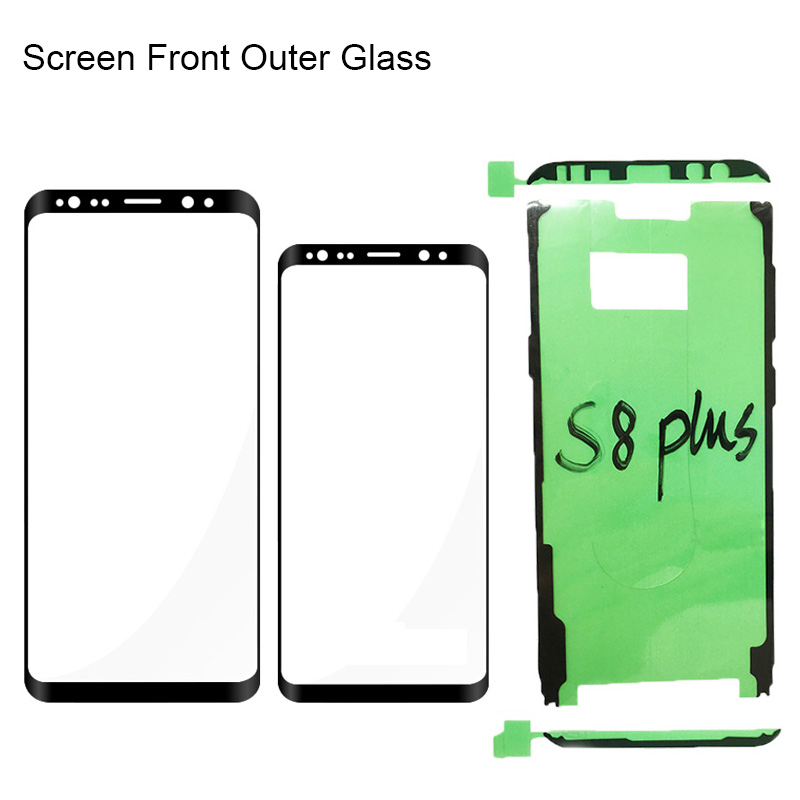 10Pcs S8 Plus Screen Front Outer Glass For Samsung S9 S8 plus Note 8 9 Repair