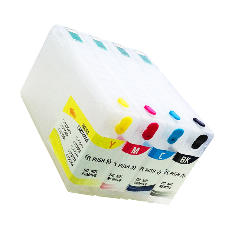 4PCS T7921 T7922 T7923 T7924 Refillable Ink Cartridge for Epson WF 5111 WF 5191 WF 5621 printer with one time chip in Ink Cartridges from Computer Office