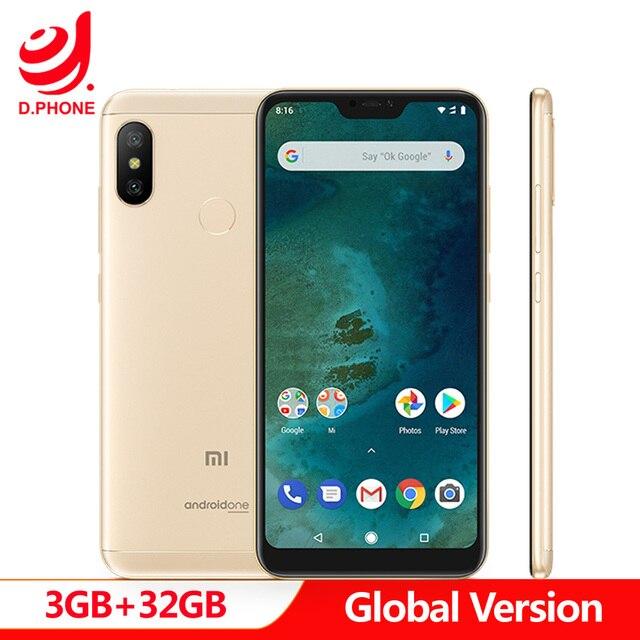 Versión Global Xiao mi A2 Lite 3 GB RAM 32 GB ROM Android uno Snapdragon 625 Octa Core Full pantalla Dual AI Cámara Smartphone