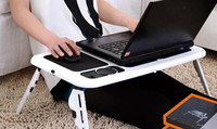 Laptop Notebook PC Desk Laptop Desk Adjustable Folding Table Black Stand Portable Bed Tray Multi Functional