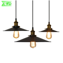 Amreican Painted Indoor Iron Pendant Lamp For Coffee House/Dining Hall/Club/Foyer/Shop/Bar,22CM/26CM/36CM Living Room Lamps DX50