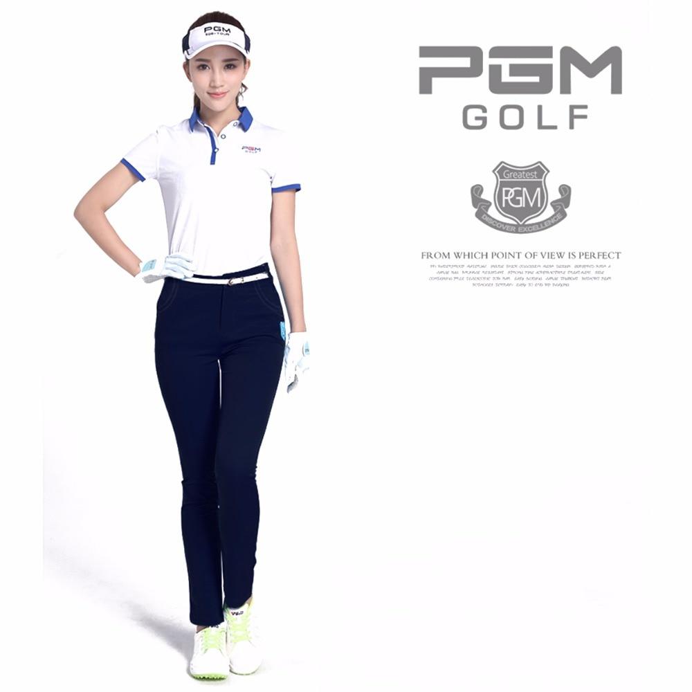 PGM Women Golf Pants Trousers Sportwear female Slim Golf Tennis Pant Quick Dry Lady Full Length Trouser Highly-elastic Sports цена