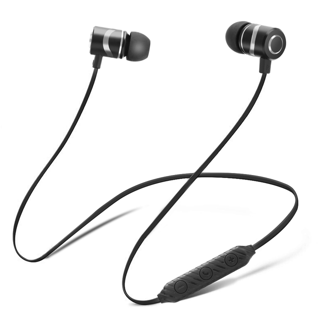 Metal l08 Bluetooth Earphone Magnetic Wireless Headphones Stereo Bass Bluetooth Earbuds Sport Headset with Mic for Xiaomi Phone