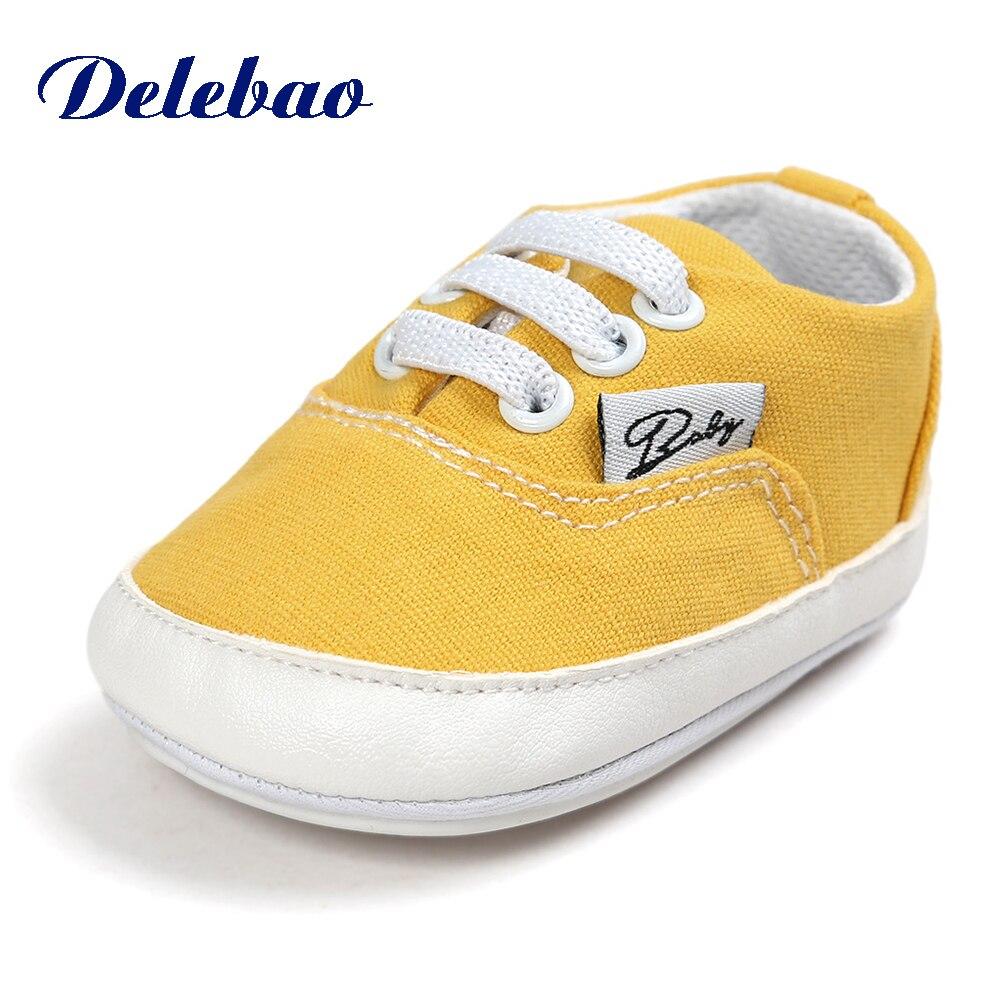 Baby Baby Babyschoenen Mode Ondiepe Canvas Mocassins Lace-Up Sneakers - Baby schoentjes - Foto 2