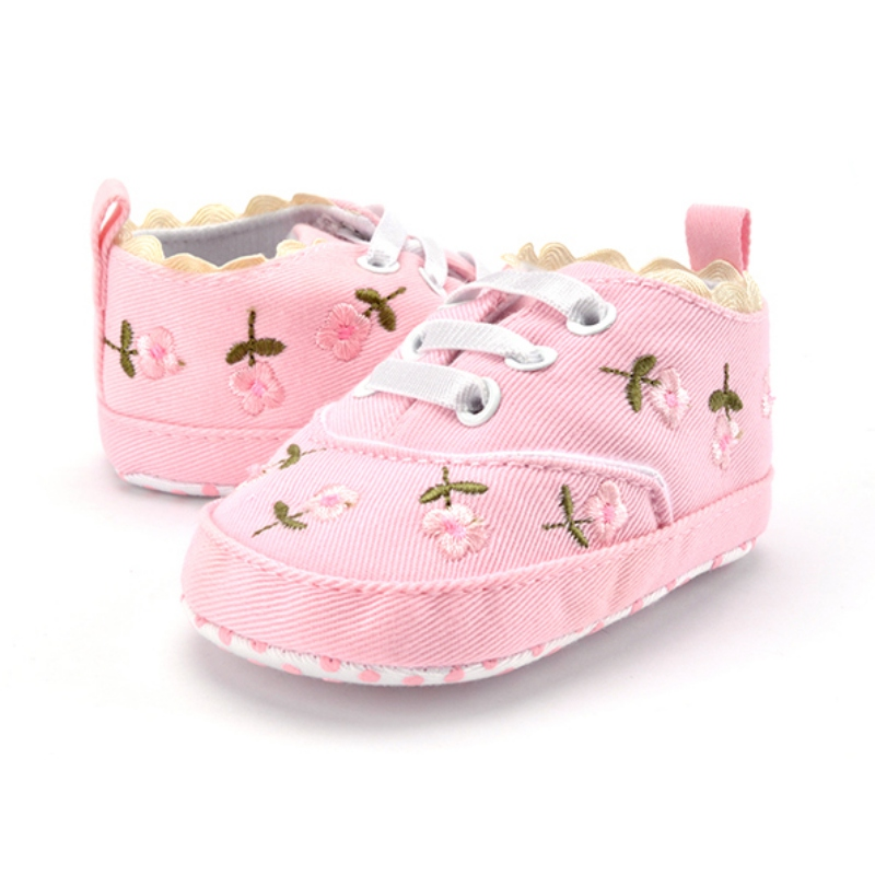 Baby Girl Shoes Flower First Walkers Prewalkers Toddler Soft Sole Shoes Spring Autumn Princess Shoes