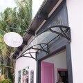 YP100200 100x200 cm freesky jardim casa usada porta suporte de plástico dossel toldo em policarbonato