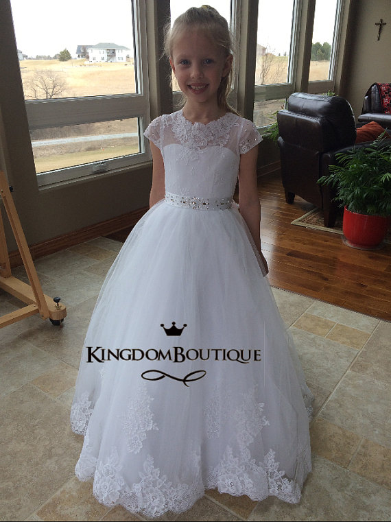 Lace Glitz Pageant Dresses Long Flower Girls Dresses For Wedding Gowns Ball Gown Long Mother Daughter Dresses For Girls Party long flower girls dresses for wedding gowns ankle length kids prom dresses lace glitz pageant dresses for little girls