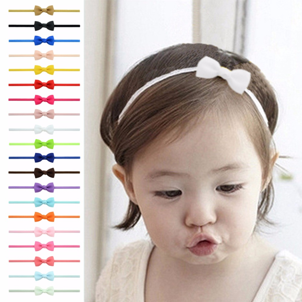 20Pcs Cute Kids Girl Baby Ribbon Toddler Flower Bow Headband Hair Band Headwear