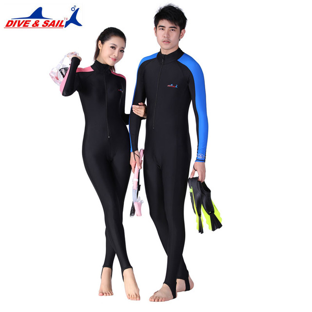 07ca58c0b5 Lycra Scuba 0.5MM Dive Skins for Men or Women Snorkeling Equipment Water  Sports Wet Jump Suits Swimwear Wetsuit Rash Guards