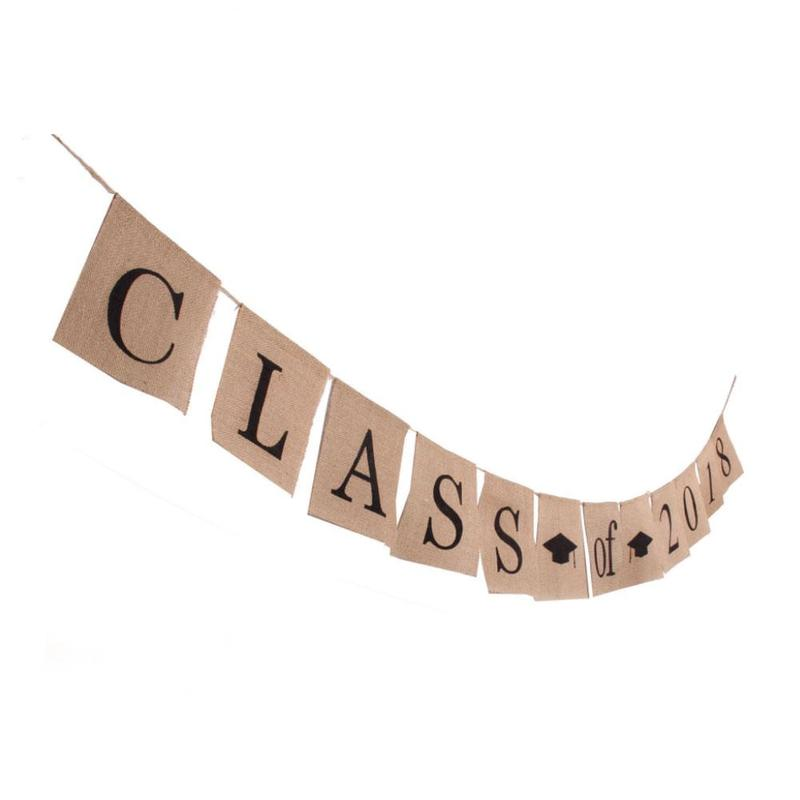 Class Of 2018 Bunting Square Banner Congrats Grad Sign Graduation Party Hanging Garland Photo Props Class Of 2018 Banner FES1826
