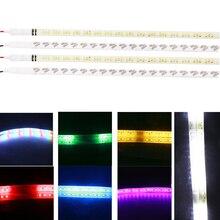 10 adet/grup 30 cm 12 V Su Geçirmez Esnek 32 LED Knight Rider Işıkları 3528 Tarama Strobe flaş RGB Araba DRL LED Şerit Işıkları