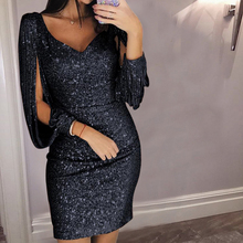2019 Women Sexy Shiny Sequin Glitter Dresses Bodycon Mini Short Club Dr