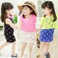 Children 's Wear 2017 summer new girl full sky star vest dress two - piece lace Waixian Shan 2 3 4 5 6 7 years old