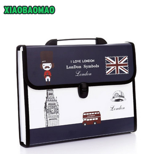 12 layers Durable Waterproof Book A4 Paper File Folder Bag Accordion Style Document Rectangle expanding wallet Office School deli a4 folder 8 grids portable multi layer paper bag information package expanding wallet document bag school office supplies