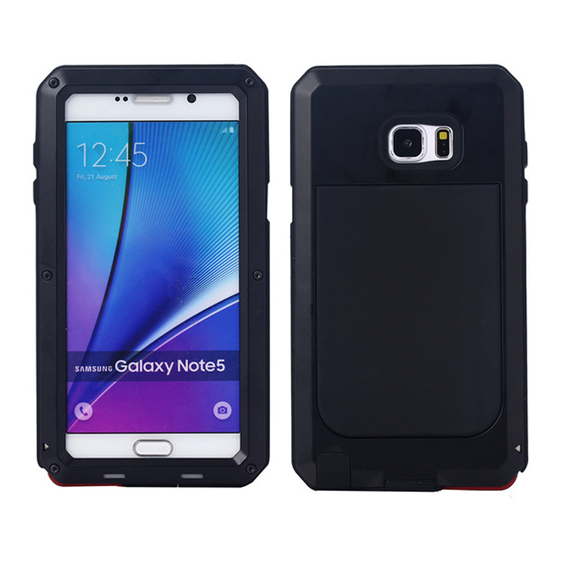 premium selection 3fe84 5f995 US $15.99 |Armor NOTE5 / 4 Aluminum Metal Element Waterproof Shockproof  Mobile Phone Cover Gorilla Tempered Glass for Samsung Galaxy Note 3-in  Phone ...