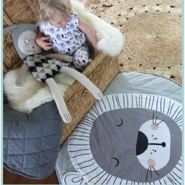 Online Shop New Brand Baby Toys Nordic Style Animal Lion Quilted ... : quilted play mat baby - Adamdwight.com