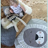 New Brand Baby Toys Nordic Style Animal Lion Quilted Play Mats Baby Blanket Carpet Rug Children