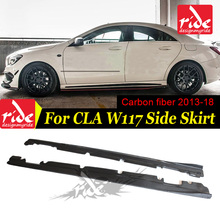 W117 Carbon Fiber Car Styling Side Skirts for Mercedes Benz CLA-Class W117 CLA180 CLA200 CLA250 CLA45 AMG Sport Edition 2013-in цена