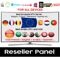 Europe IPTV Subscription French Arabic Germany UK Italy Netherland Greece Africa Live Channels for Android Box Mag Smart TV
