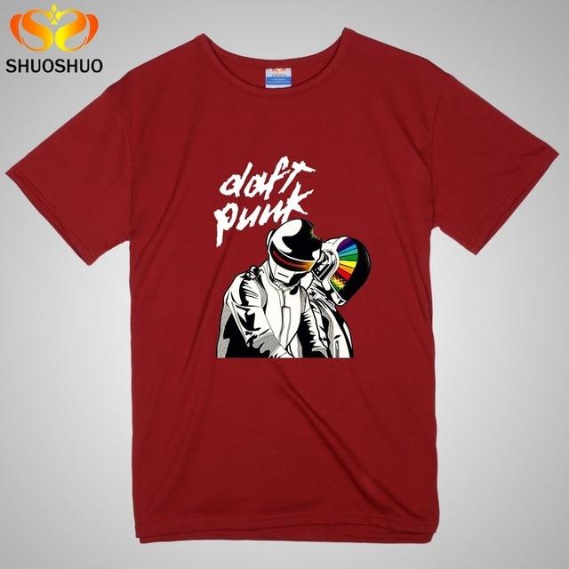 Daft Punk t shirts DJ rock Music theme Men's and women's short ...