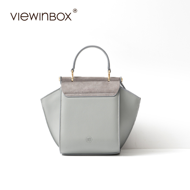 Viewinbox Luxury Brand Shoulder Bag Original Design Split Leather Fashion  Trapeze Handbag Women Crossbody Messenger Bag. Previous  Next 8d744266a8681