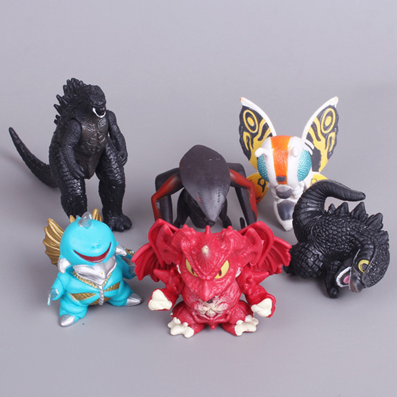 Gojira ultraman dolls PVCaction figures toys anime Childrens favorite characters collection dinosaur 6pcs/set