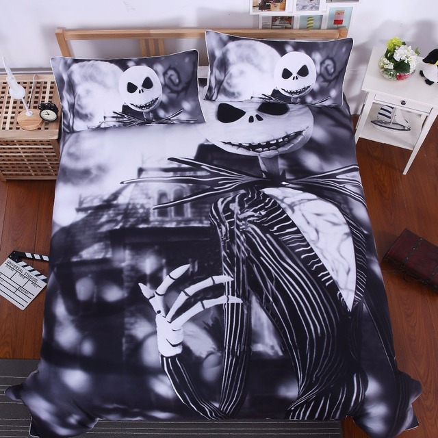 Bedding Nightmare Before Christmas Cool Bed Linen Printed Soft Twin Full  Queen King Sheet Set 3pcs