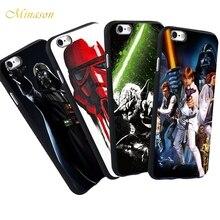 bb304663e96 Minason maestro Yoda Darth Vader Star Wars caso para el iPhone X 8 5 S SE 6  6 S 7 más capa suave negro silicona teléfono Fundas .