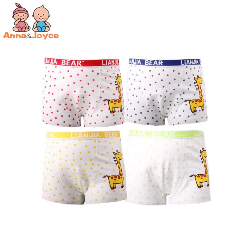 3pcs/lot Boy shorts children underwear for boys cotton boxer underwear Kids   panties   giraffe