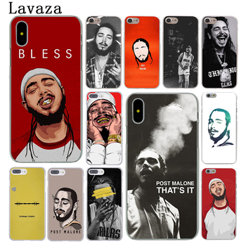 Lavaza Post Malone Hard Phone Case for Apple iPhone 6 6s 7 8 Plus 4 4S 5 5S SE 5C Cover for iPhone XS Max XR Cases