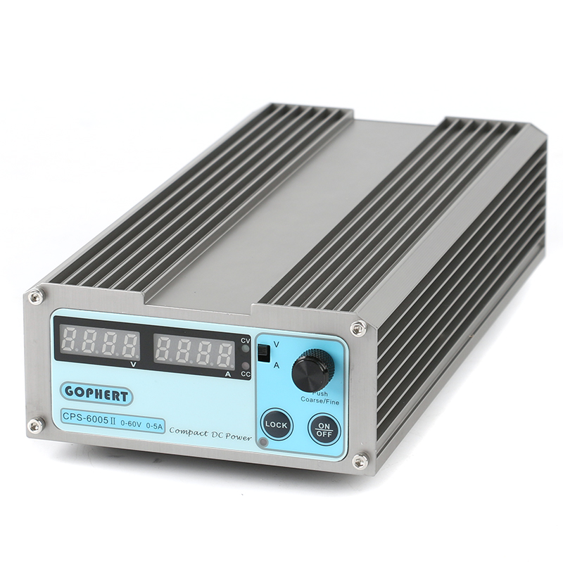 GOPHERT CPS-6005II Precision Compact Digital Adjustable Low Power Switch DC Power Supply OVP/OCP/OTP 110V 230V 60V 5A MCU Contro cps 6011 60v 11a precision pfc compact digital adjustable dc power supply laboratory power supply