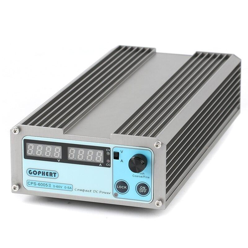 GOPHERT CPS-6005II précision Compact numérique réglable basse puissance interrupteur DC alimentation OVP/OCP/OTP 110 V 230 V 60 V 5A MCU Contro