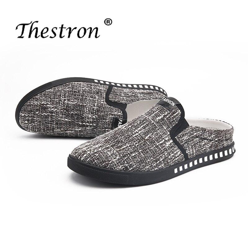 WunderschöNen Herren Hausschuhe Outdoor Schwarz Beige Schuhe Für Männliche Sommer Gummi Unten Flache Hausschuhe Für Männer Anti-rutsch Bequem Casual Schuhe