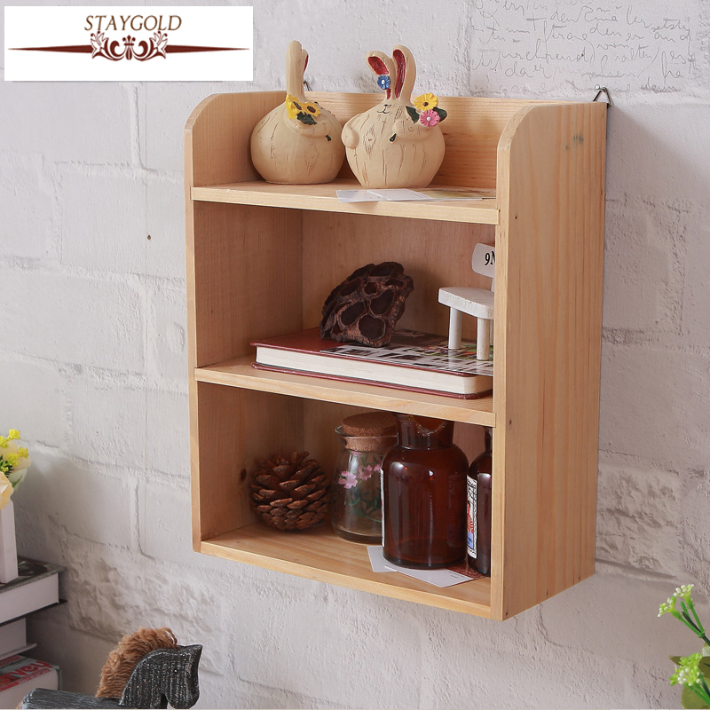 zakka home decor wooden furniture cabinet wood wall shelves home decor wooden furniture Staygold Zakka Wall Shelves Desktop Storage Finishing Rack Home Wall  Decoration Vintage Home Decor Grocery Decorative Shelves-in Home Office  Storage from ...