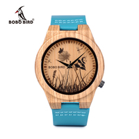 BOBO BIRD Men Wood Watches Top Luxury Brand Design Bamboo Wooden WristWatches Fo Women With Leather