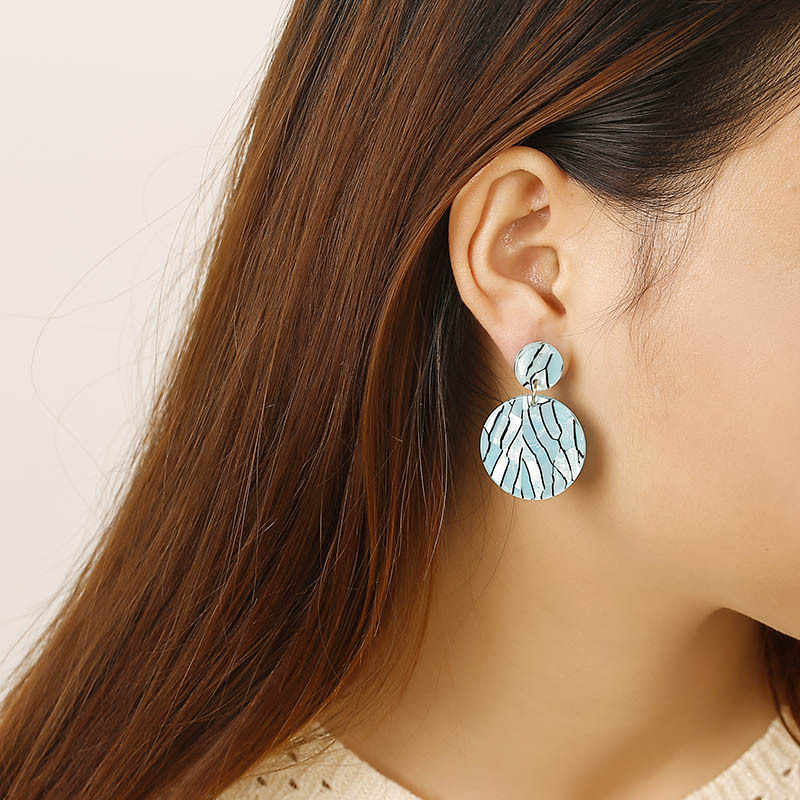 Korean Popular Earrings Geometric Round Acrylic Dangle Drop Earrings For Women Statement Earings Fashion Jewelry 2019 Oorbellen