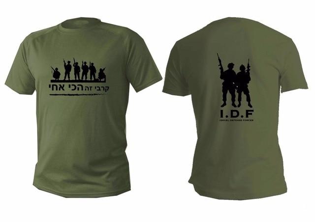 Fashion Israel Defense Forces Army Zahal Idf Shayetet 13 Commando AGAINST TERROR T Shirt Mens Army Green O Neck Airforce Shirts