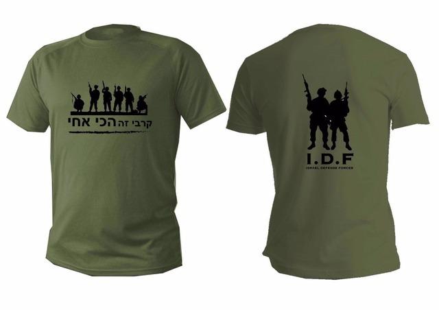 Moda Do Exército Das Forças de Defesa de Israel Zahal Shayetet Idf 13 Commando CONTRA o TERROR T Camisa O Pescoço Da Força Aérea Do Exército Dos Homens Verdes camisas