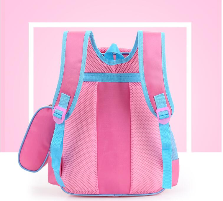 Fashion Cute Hello Kitty Backpacks For Children Girls Princess School Bag Nylon Waterproof Kids Satchel Student Bow Schoolbag