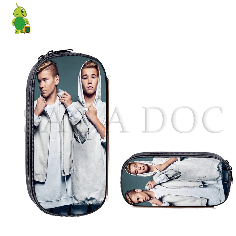 Marcus And Martinus Pencil Bag Boys Girls Makeup Bag Kids School Supplies Stationery Storage Bag Fashion Cosmetic Cases