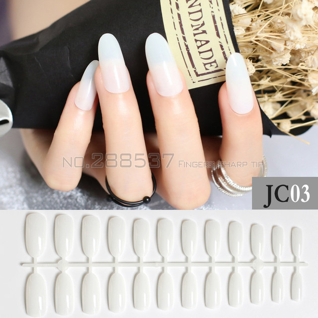 Online Shop New Black White Almond long oval head Solid color Round ...