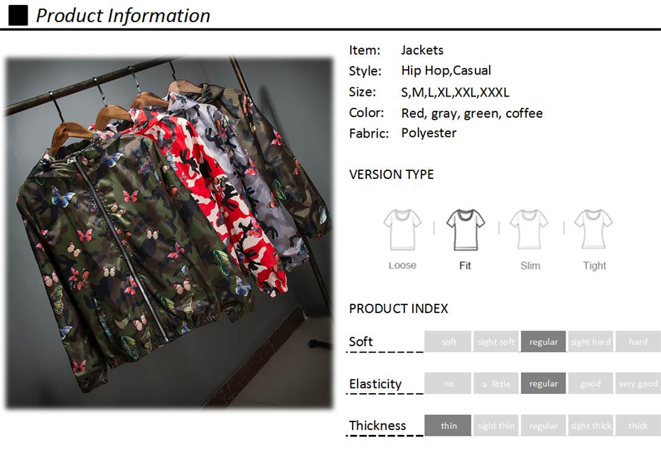 HTB1zoLjdi6guuRkSmLyq6AulFXal Mens Casual Camouflage Hoodie Jacket 2018 New Autumn Butterfly Print Clothes Men's Hooded Windbreaker Coat Male Outwear WS505