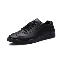 Men Leisure Shoes Breathable Trend Flat With Slip-on Fashion Solid Spring/autumn Pu Leather Shoe