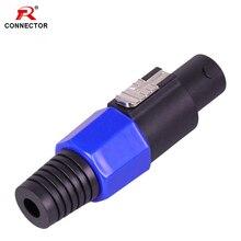 1pc NL4FC Speak Connector, 4Pins, Blue Color, 4poles Speak Male Plug Cable Connector