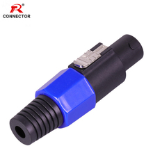1pc NL4FC Speakon Connector, 4Pins, Blue Color, 4poles Male Plug Cable Connector