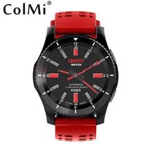 Tela Colorida COLMI IP68 À Prova D' Água Relógio Inteligente com Freqüência Cardíaca Pressão arterial Monitor de Sono para IOS Android PK Q8 K5 Smartwatch